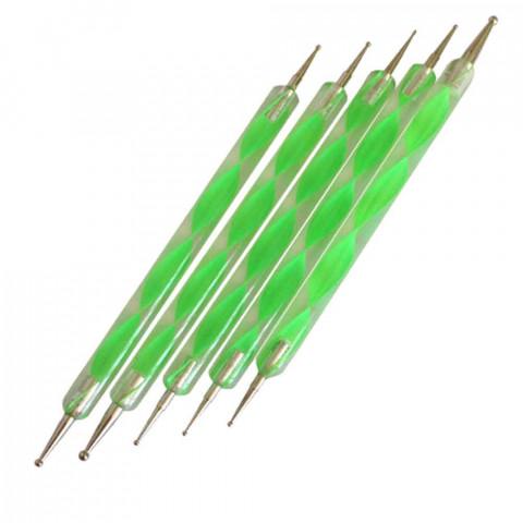 'Nail-Art Werkzeugset 5 Stück mit Kugelspitzen'