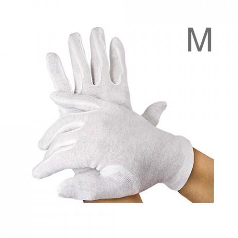 'Baumwoll-Handschuhe, 12 Paar, M'