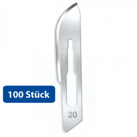 'Skalpell-Klingen Fig.20, 100 Stück, steril f. Halter 4'