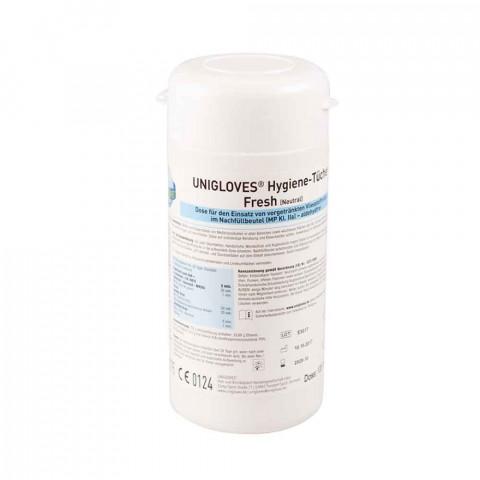 'UNIGLOVES Hygiene-Tücher, 120 Tücher-Dose'