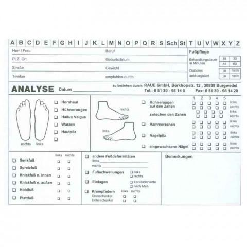 'Analyse-& Karteikarten 100 Stück Packung'