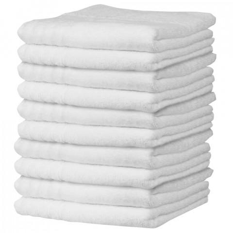 'Frottee-Handtuch 50x100 cm, weiß (10 Stück)'