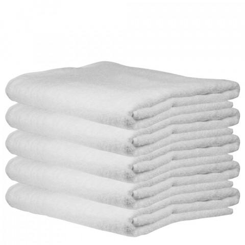 'Frottee-Badetuch 100x150 cm, weiß (5 Stück)'