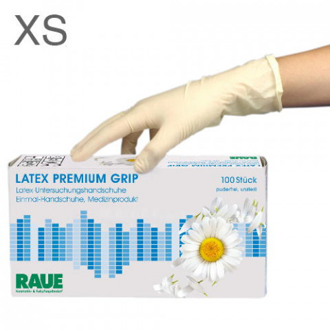 'RAUE Latex Premium Grip 100, Gr. XS (5-6)'