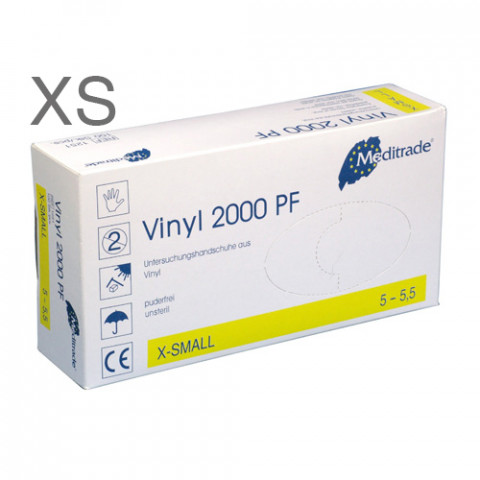 'Vinyl-Handschuhe Gr.XS 100 Stück, puderfrei'
