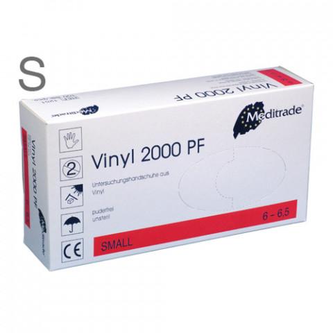 'Vinyl-Handschuhe Gr.S 100 Stück, puderfrei'