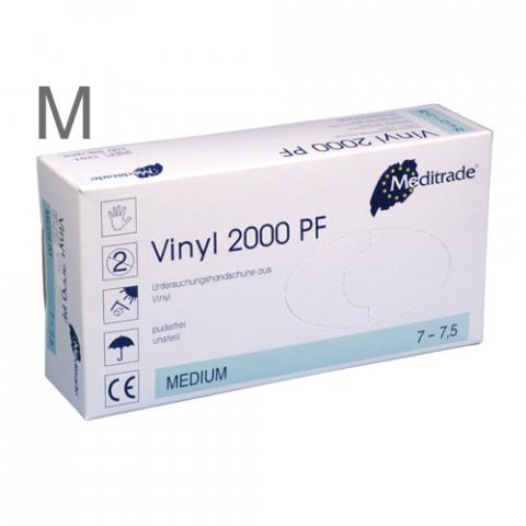 'Vinyl-Handschuhe Gr.M 100 Stück, puderfrei'