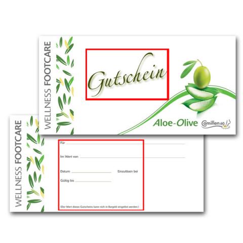 'Voucher Aloe & Olive other language'
