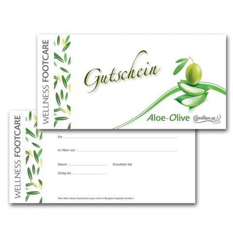 'Gutscheine Aloe-Olive deutsch / 20 Stück'