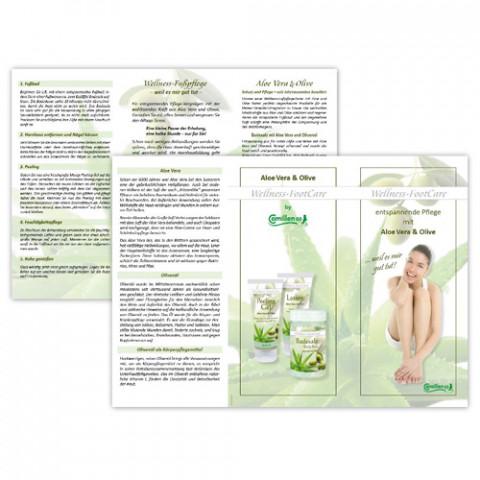 'Aloe-Olive Kundenflyer 6-seitig - deutsch DIN lang'