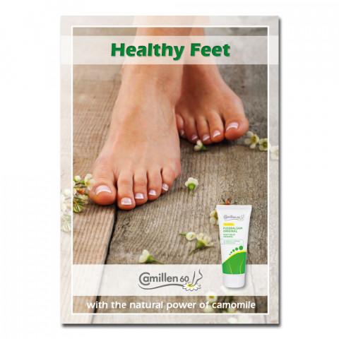 'Poster Healthy Feet English 42 x 60 cm'