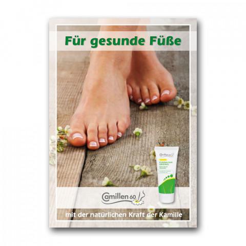 """'Poster """"Für gesunde Füße""""'"""