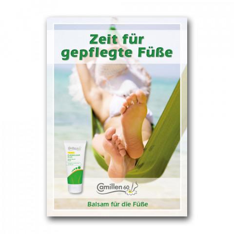 """'Poster """"Zeit für gepflegte Füße""""'"""