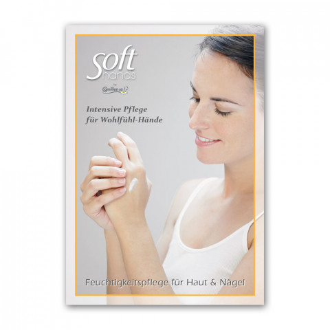 "'Poster ""Soft hands""'"