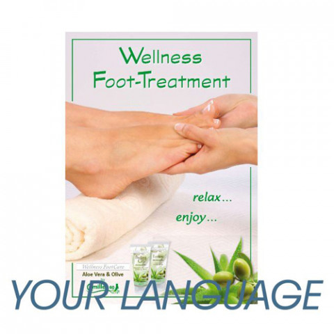 'Poster Wellness FootCare 42x60cm other language'