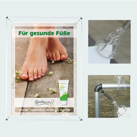 'Poster-Spannrahmen DIN A2 Aluminium-Ovalprofil'