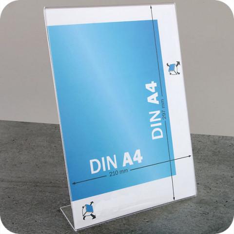'L-Aufsteller DIN A4 Hochformat, transparent'