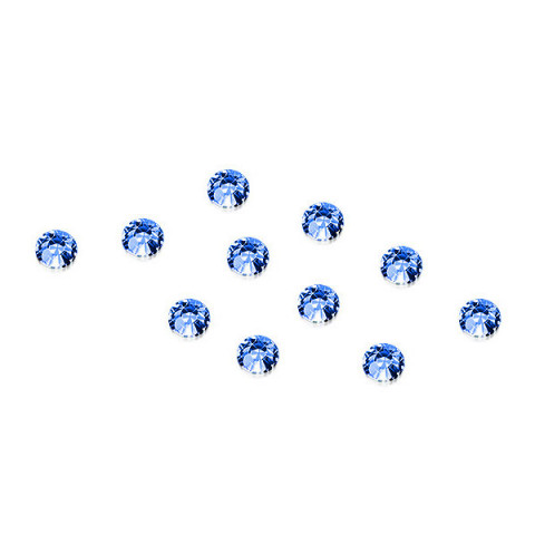 'Strass-Steinchen Blau, 100 Stück'