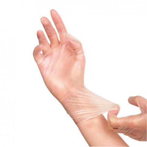 'Vinyl-Handschuhe 100 Stück, puderfrei'