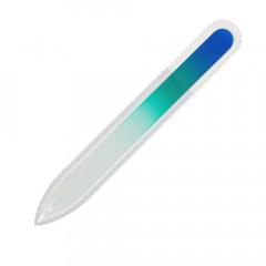 Glasfeile blau/türkis, 135 mm