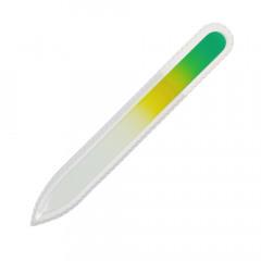 Glasfeile grün/gelb, 135 mm