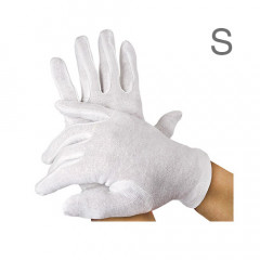 Baumwoll-Handschuhe, 12 Paar, S