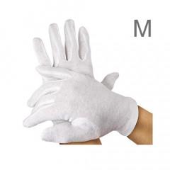 Baumwoll-Handschuhe, 12 Paar, M