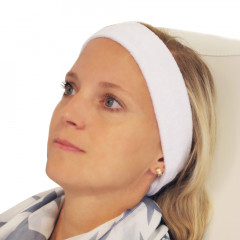 Frottee-Stirnband 4 cm, mit Klettverschluss