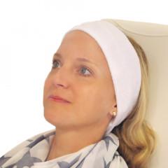 Frottee-Stirnband 8 cm, mit Klettverschluss