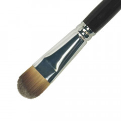 Make-Up Pinsel Gr. 18, flach/oval (Synthetik), 20,6 cm