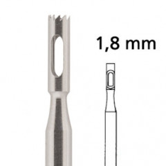 Hohlfräser gezackt F224RF Ø 1,8 mm, rostfrei