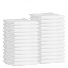 Frottee-Kompressentuch 30x50 cm, weiß (25 Stück)