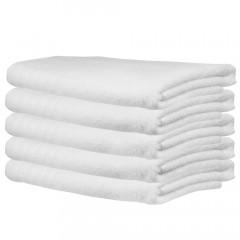 Frottee-Duschtuch 70x140 cm, weiß (5 Stück)