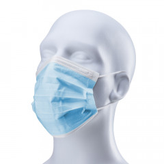 Vliesmasken 3-lagig, blau, 50 Stück