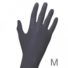 Nitril BLACK Handschuhe 100, Gr. M (7-8)
