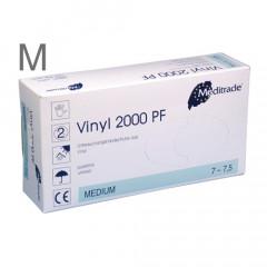 Vinyl-Handschuhe Gr.M 100 Stück, puderfrei