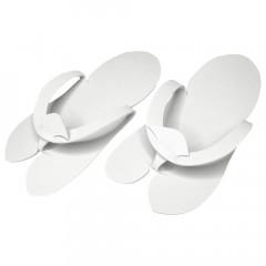 Pedi-Slipper weiß, 50 Paar