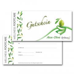 Gutscheine Aloe-Olive deutsch / 20 Stück