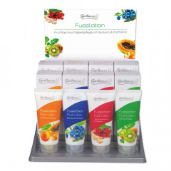 FUSSLOTION Display 4 x 3 Tuben