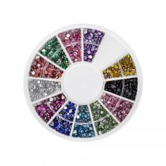 Strasskarussell, 12 Farben, 500 Stück