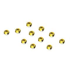 Strass-Steinchen Gold, 100 Stück