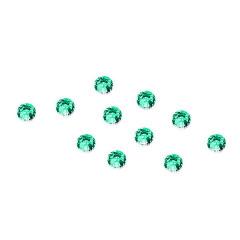 Strass-Steinchen Grün, 100 Stück