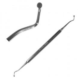 'Löffelinstrument, mittel doppelt, rostfrei'