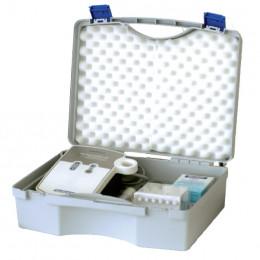 'Koffer Grau aus Kunststoff'