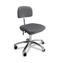 'Stuhl small ohne Armlehne, platingrau, Chrom-Fuß'