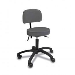 'Stuhl mit rundem Sitz, platingrau'