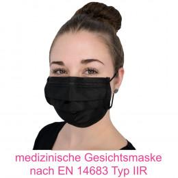 'OP-Mundschutz PROTECT PLUS Black, 4-lagig, 50 Stück'