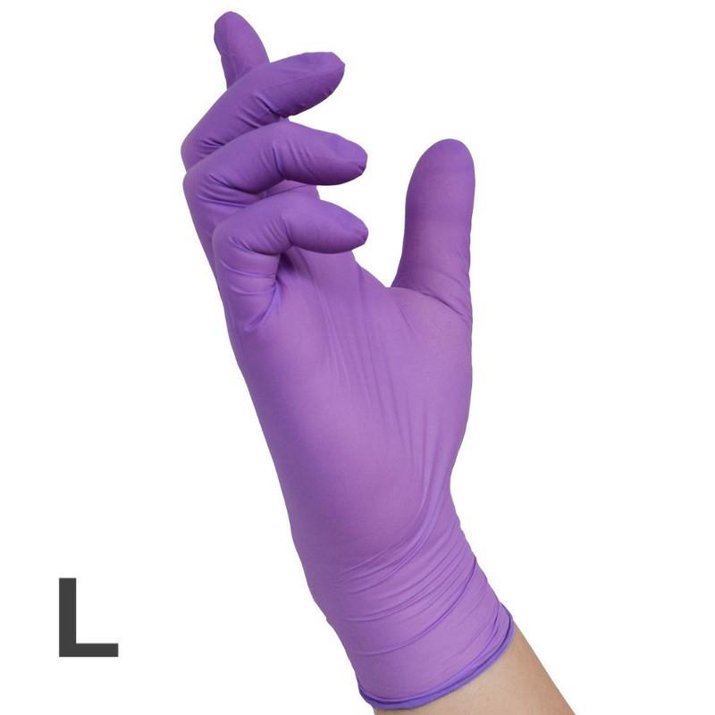 Nitril VIOLET Handschuhe 100, Gr.L (8-9)