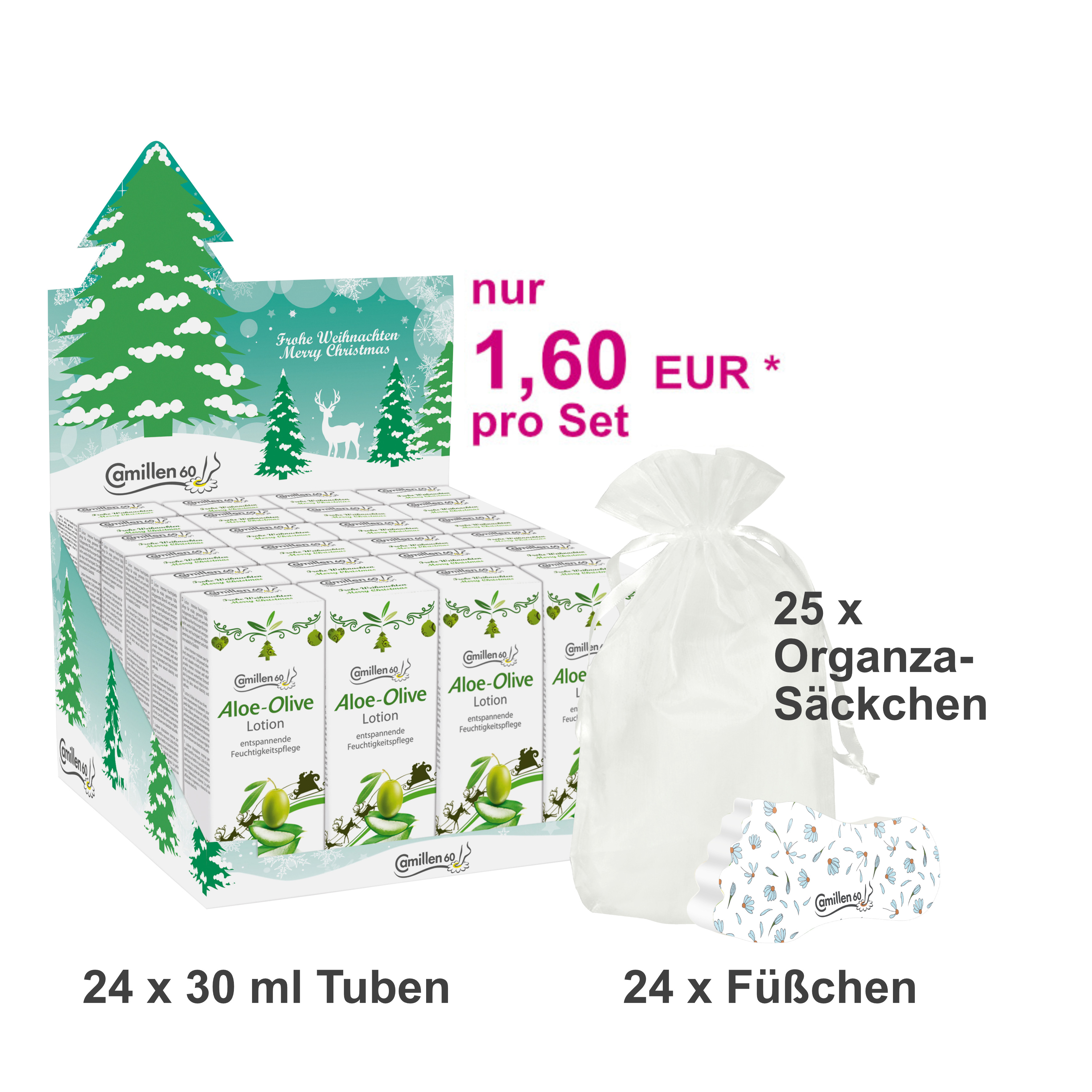 24 Weihnachts-Sets LOTION ALOE-OLIVE