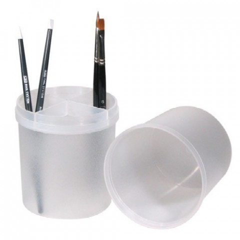 'Boxx, clear for files and paintbrushes'